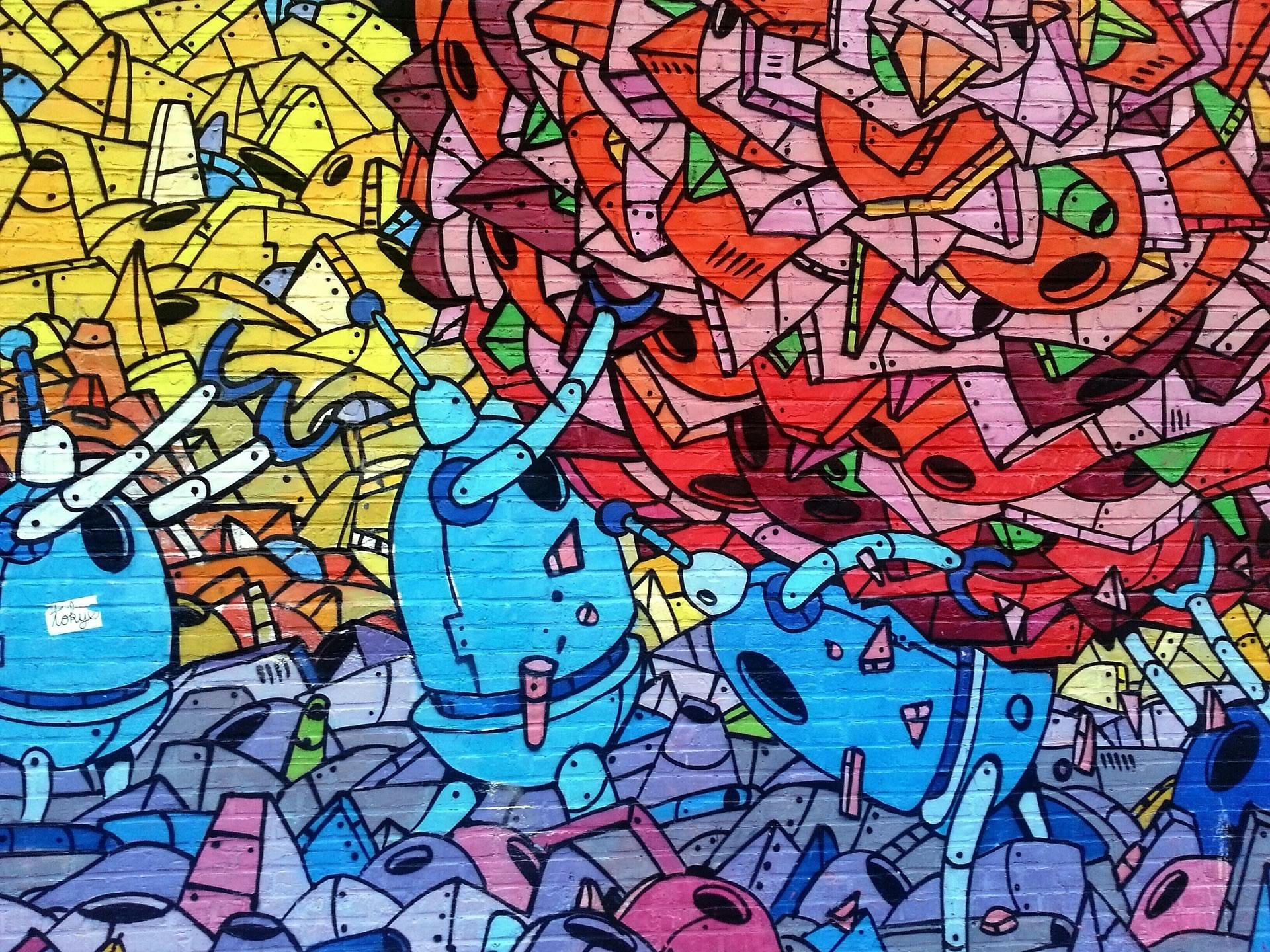 download wallpaper-graffitti-robots wallpaper