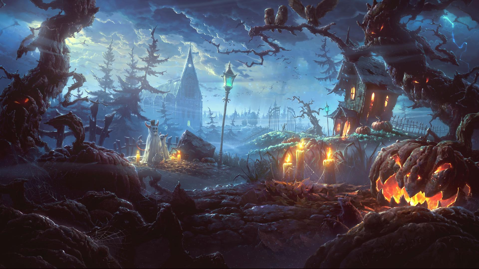 download twee spookjes op pad wallpaper