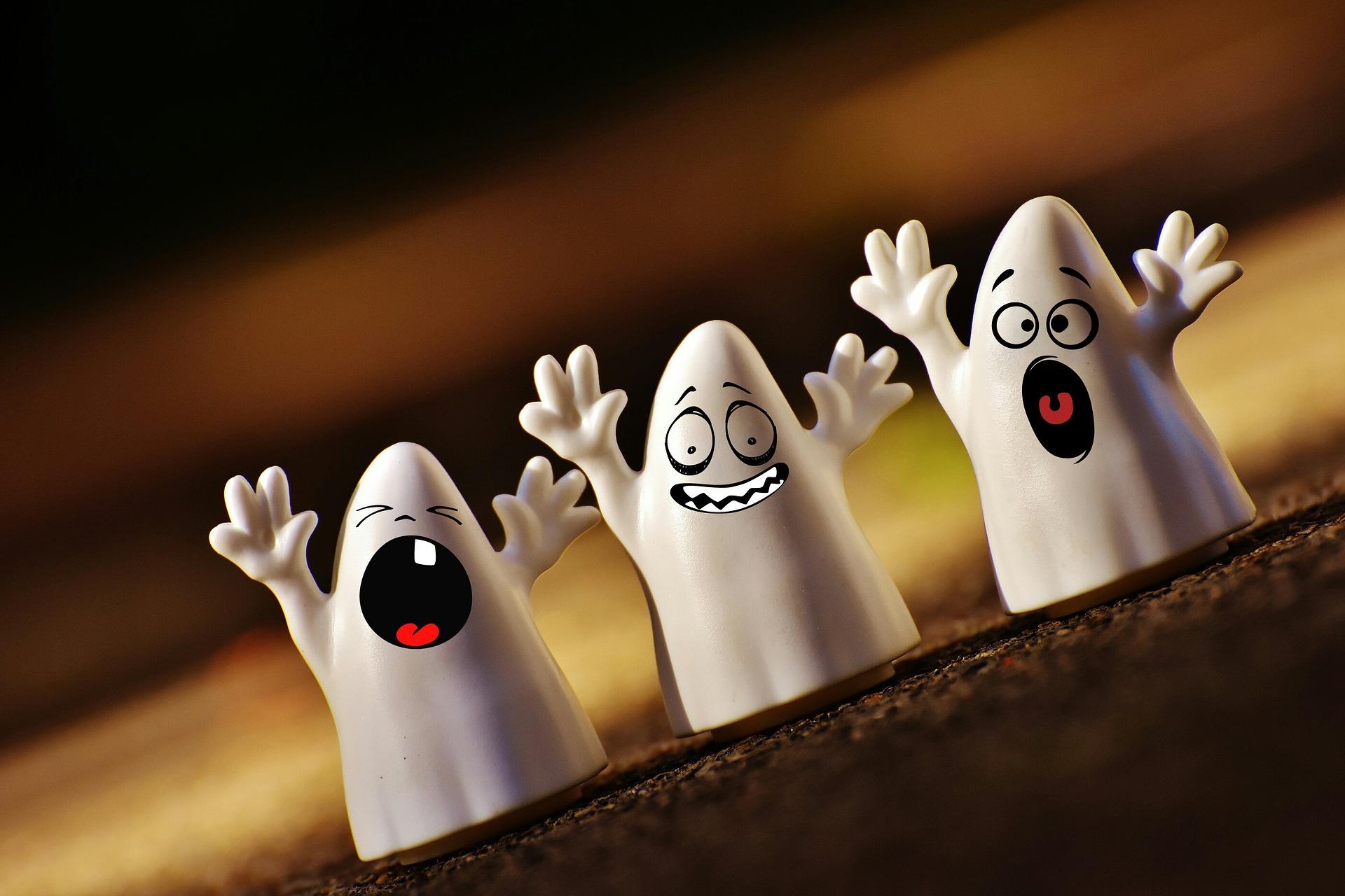 download wallpaper: gillende Halloween spookjes wallpaper