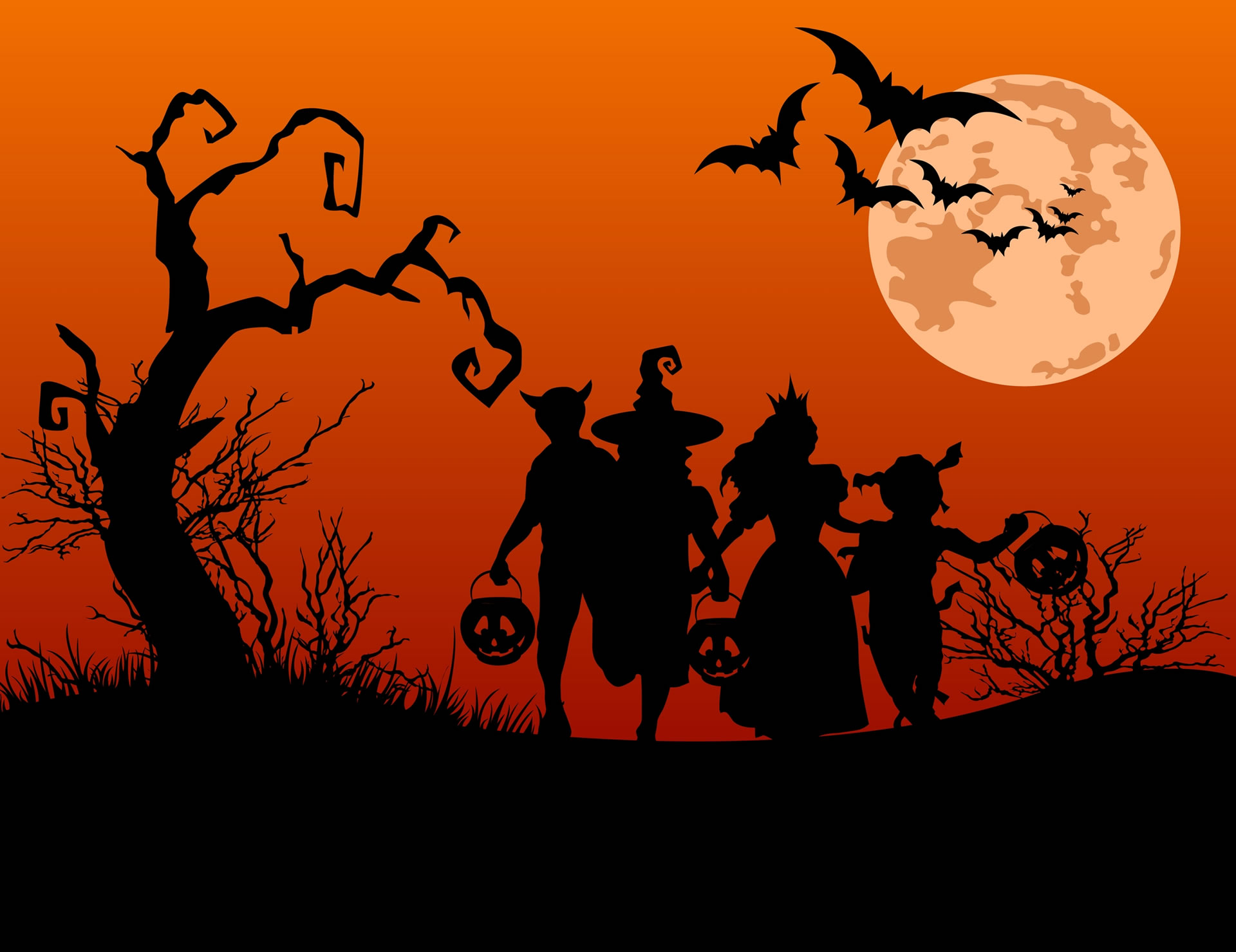 download wallpaper: Halloween silhouetten wallpaper