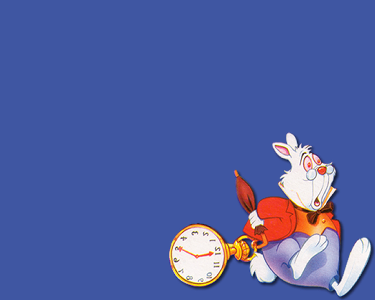 download wallpaper: het konijn uit Alice in Wonderland wallpaper
