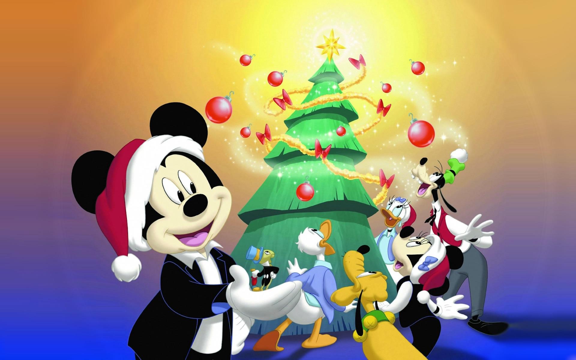 download wallpaper: Kerstfeest met Mickey Mouse wallpaper