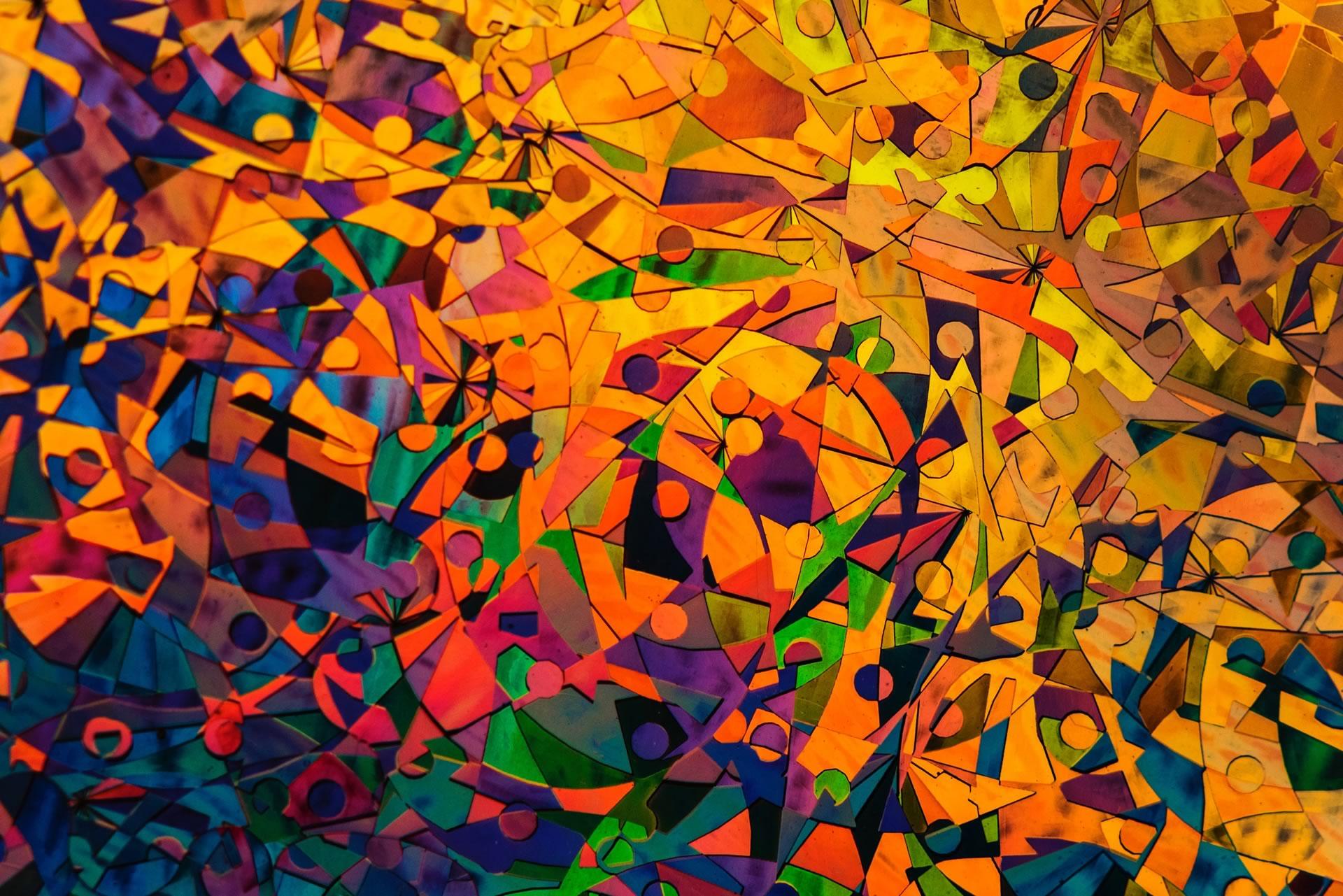 download wallpaper: kleurig mozaiek wallpaper