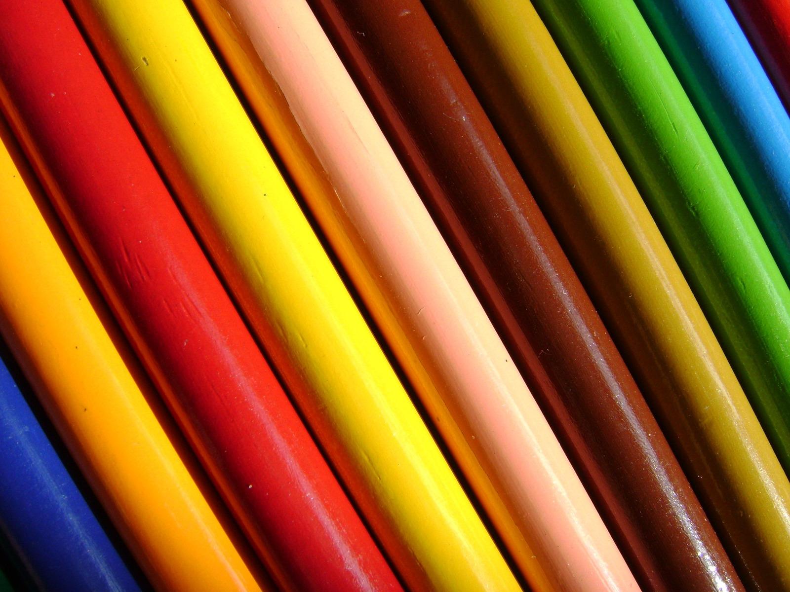 download wallpaper: kleurpotloden closeup wallpaper