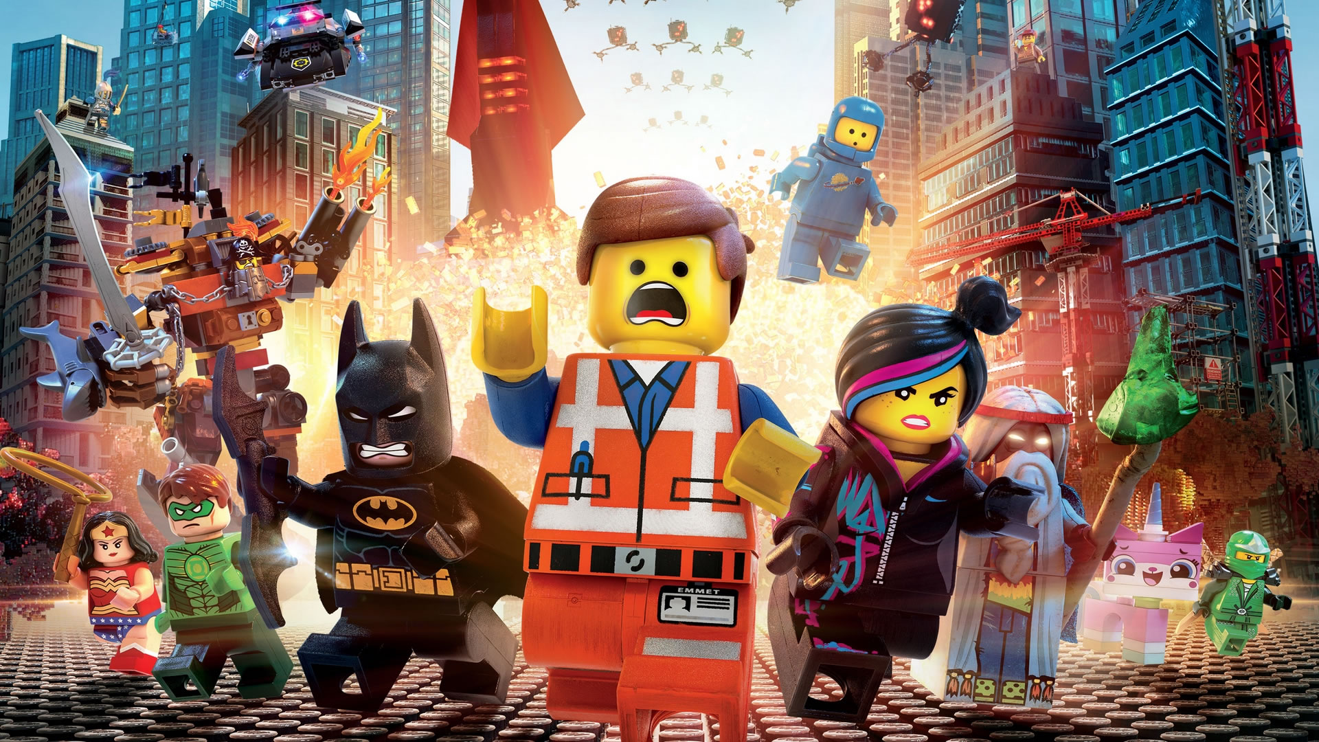 download wallpaper: LEGO Movie explosie wallpaper