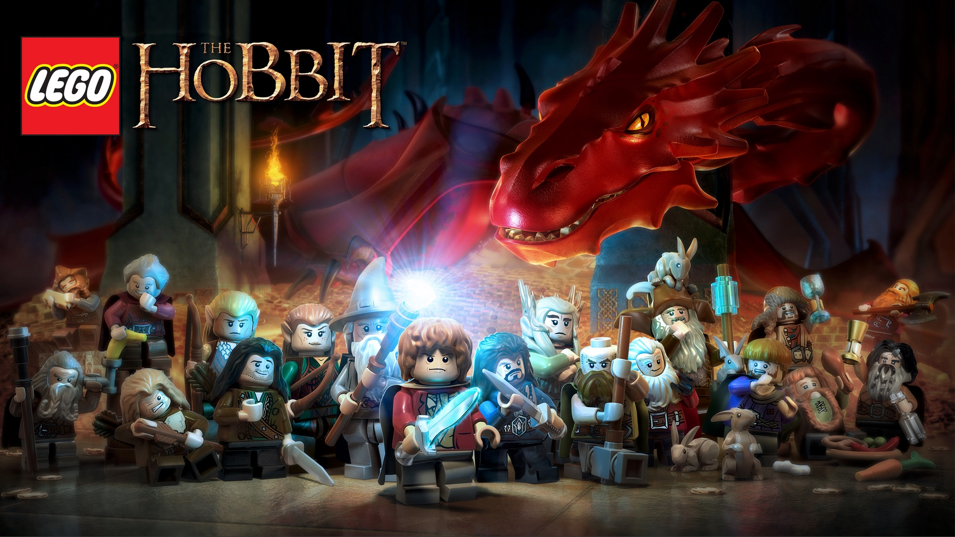 download wallpaper: LEGO The Hobbit personages wallpaper