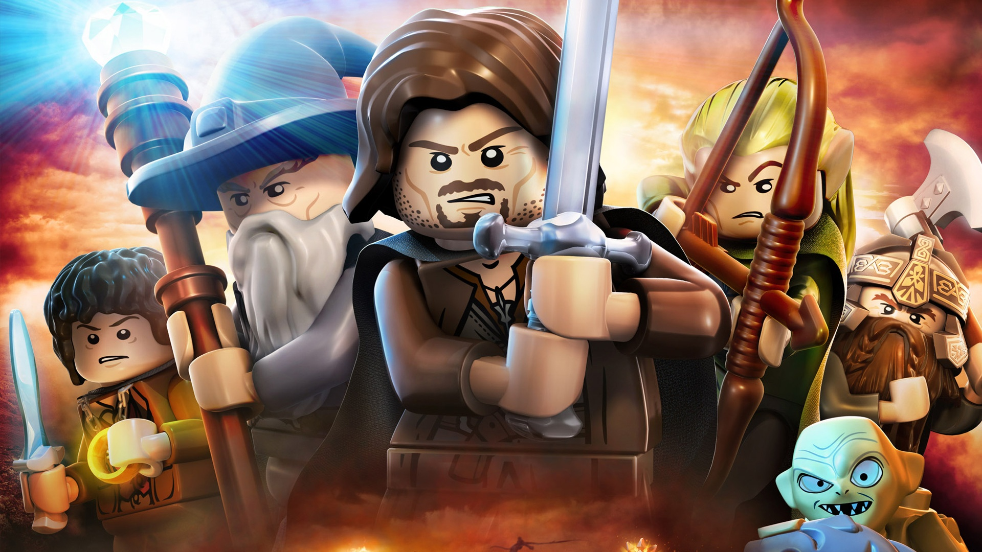 download wallpaper: Lego Lord of the Rings wallpaper