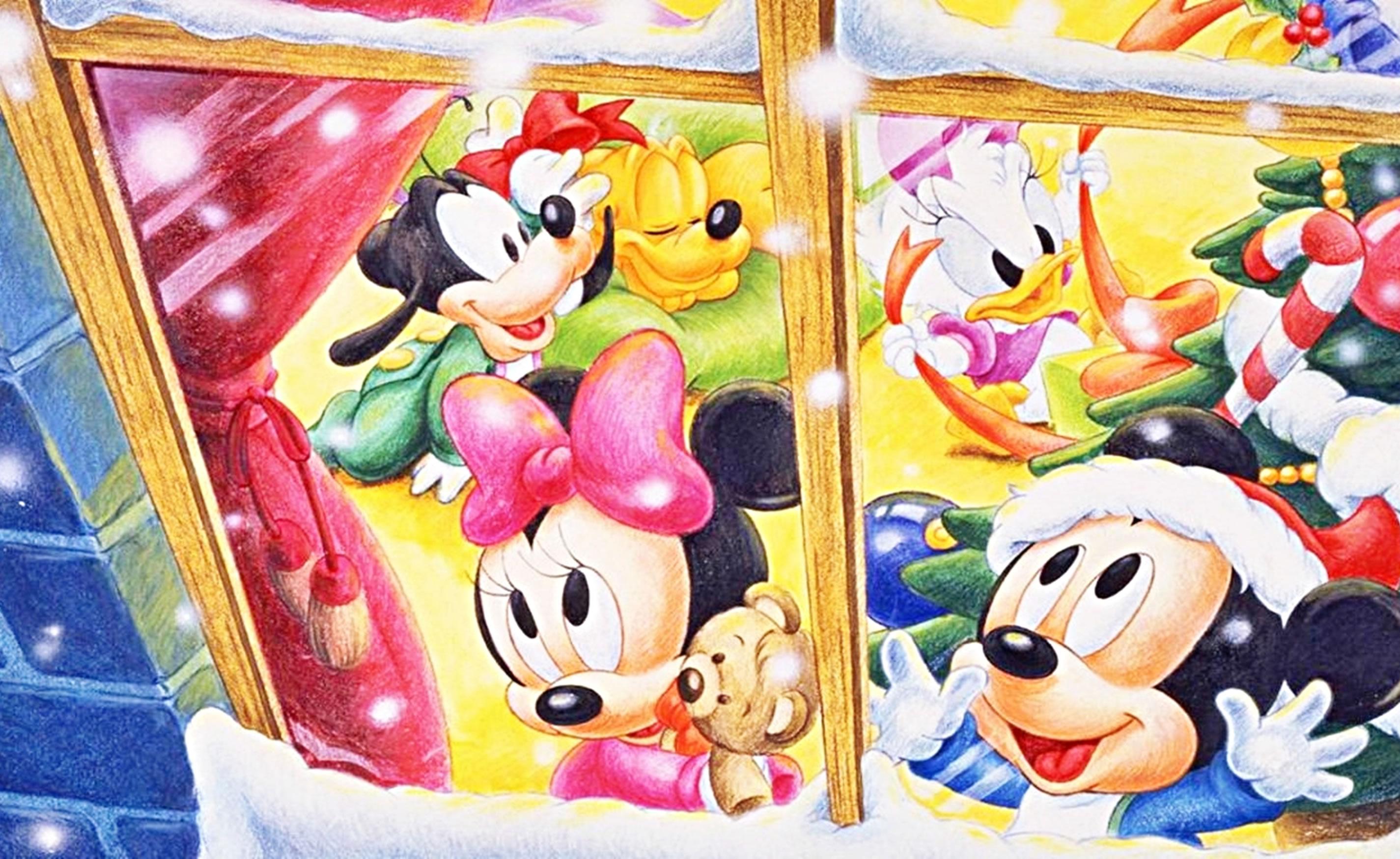 download wallpaper: Mickey Mouse viert kerst wallpaper