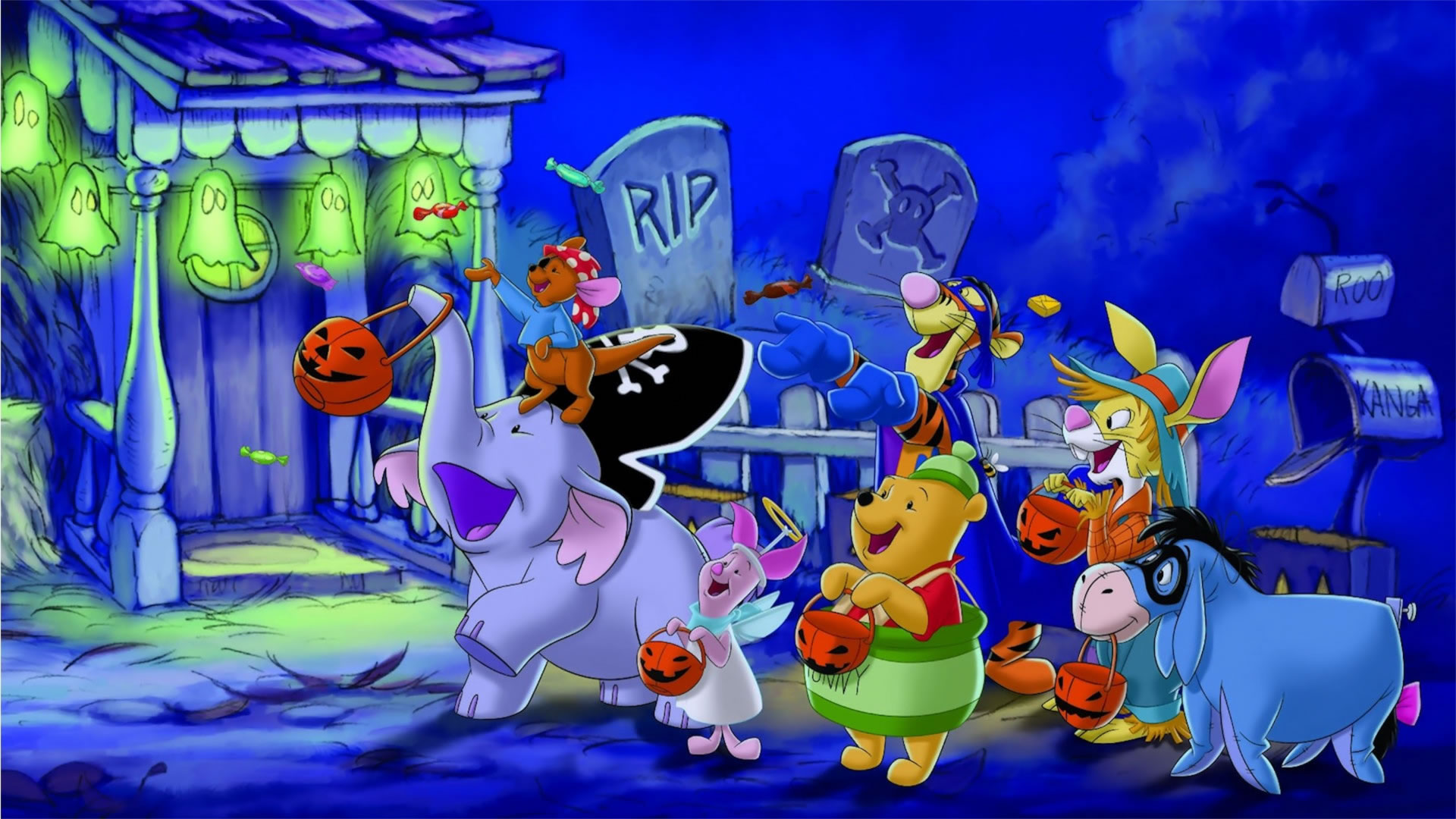 download wallpaper: Poehbeer viert Halloween wallpaper