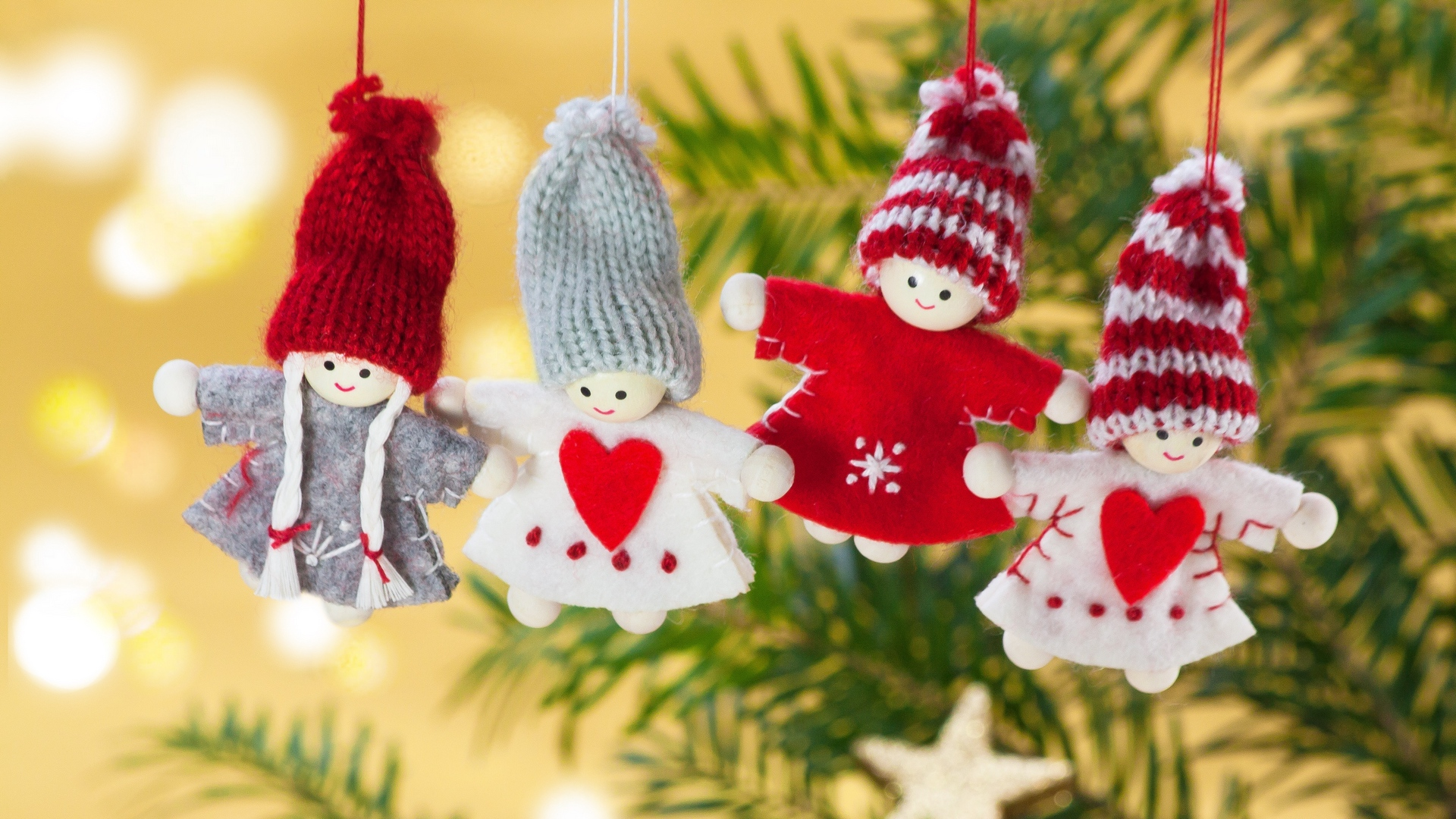 download wallpaper: poppetjes in de kerstboom wallpaper