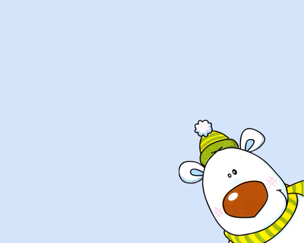 download wallpaper: prettige feestdagen van ijsbeer wallpaper