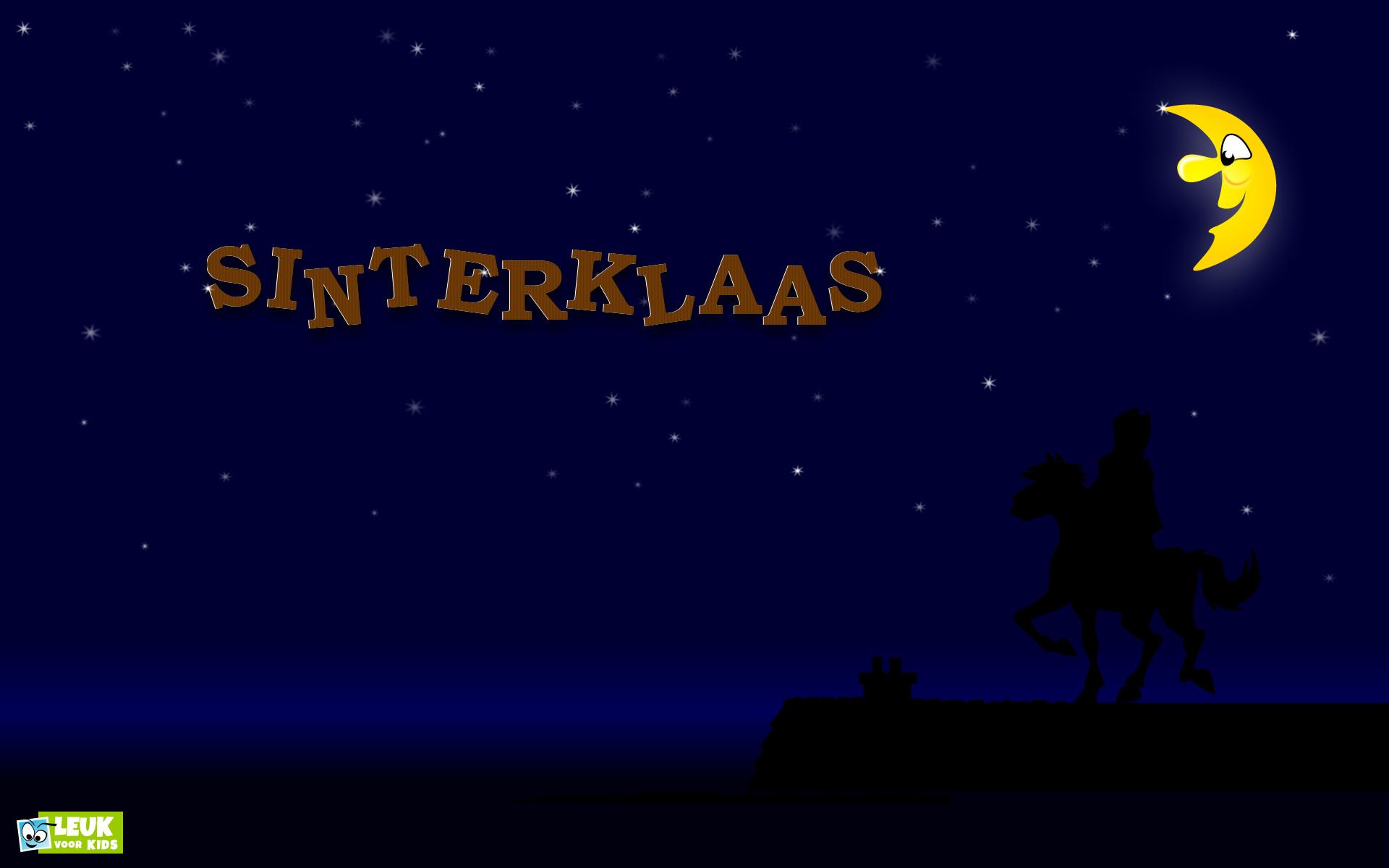 download wallpaper: Sinterklaas met z'n paard op het dak wallpaper