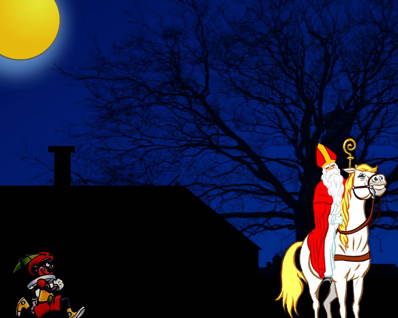 download wallpaper: Sinterklaas op pad wallpaper