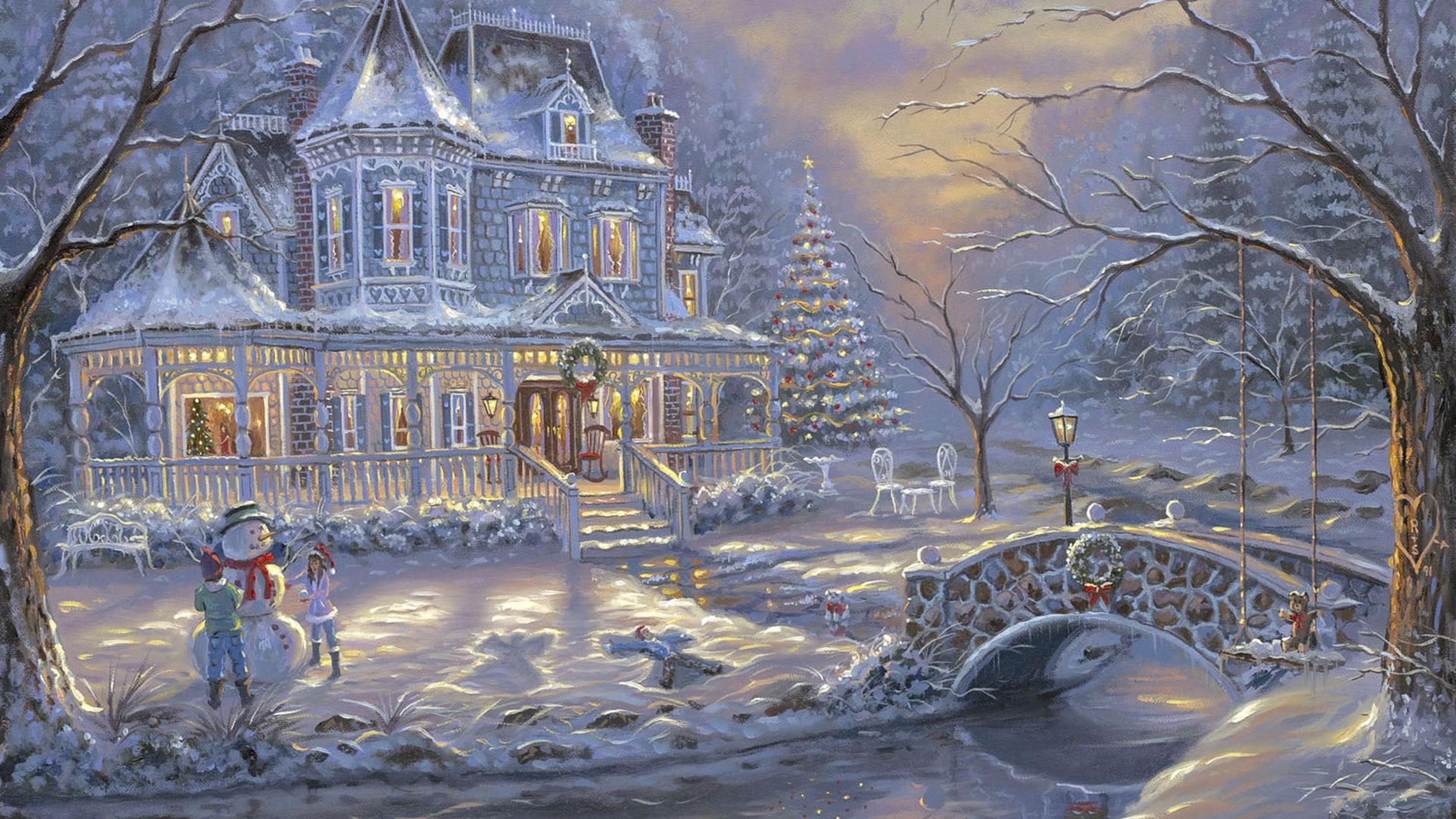 download wallpaper: een winters tafereeltje wallpaper