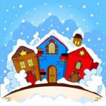 Winter kleurplaat voor kids en volwassenen