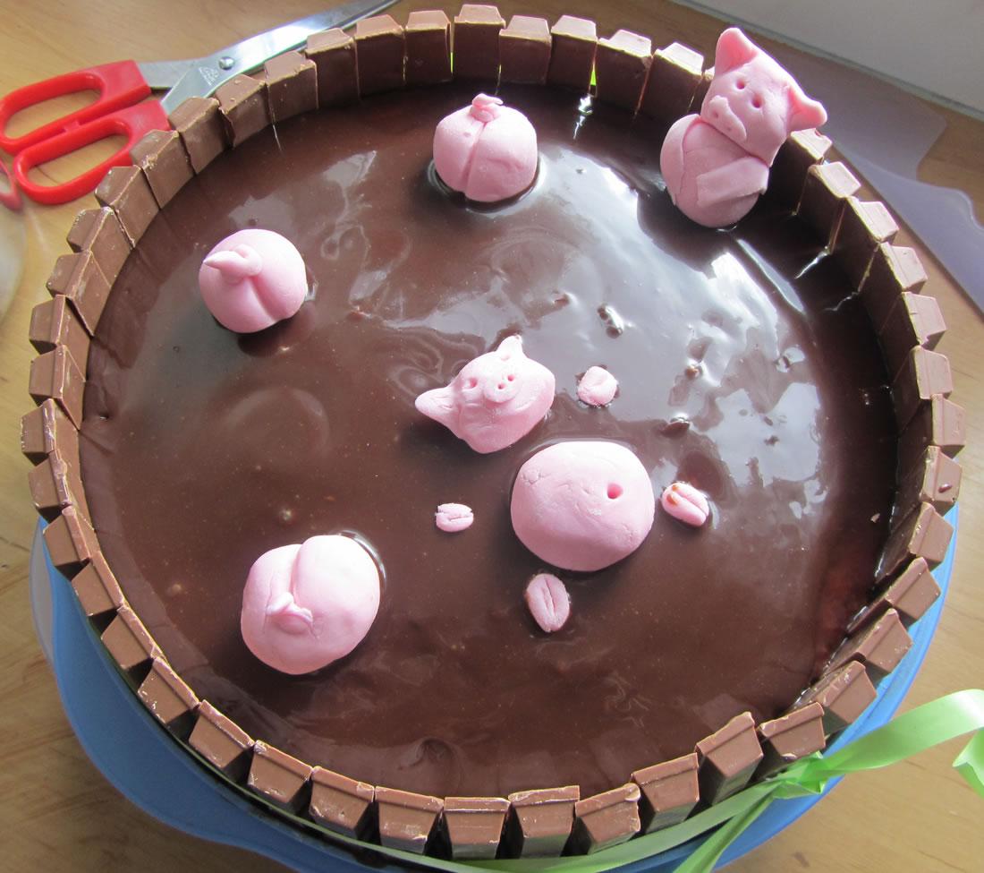 Smullen Een Biggetjes In De Modder Chocoladetaart Leuk