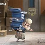 Het schaap Bellwether is het hulpje van de burgemeester