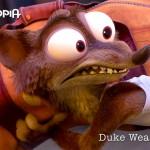 Wezel Duke Weaselton is een boef met een grote mond