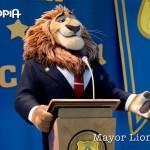 Leodore Lionheart is de burgemeester van Zootopolis